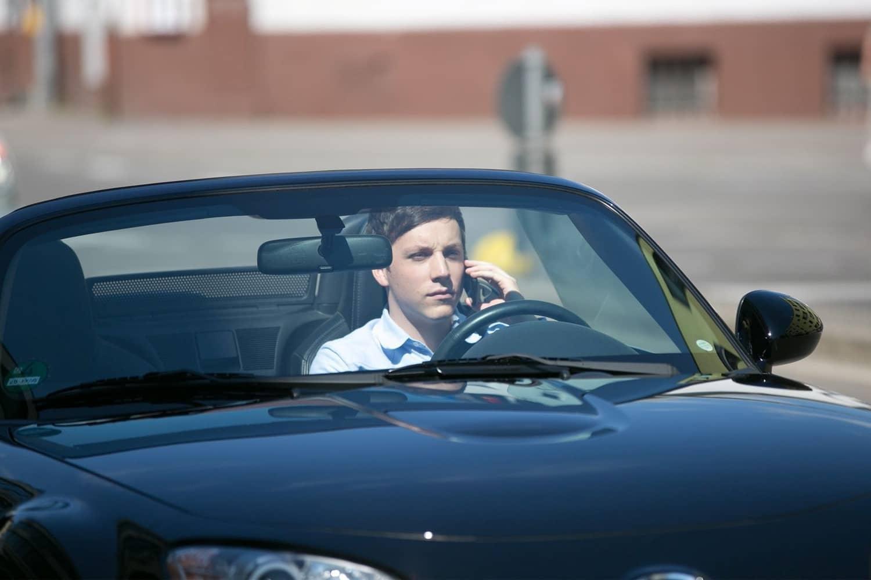 Autofahrer im Blindflug