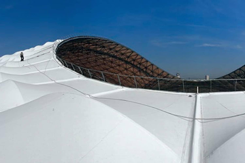 Fußballstadion: Das Dach zur EM