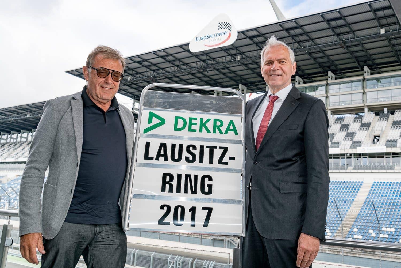Übernahme Lausitzring DEKRA; Clemens Klinke (rechts) Josef Meier, Eurospeedway