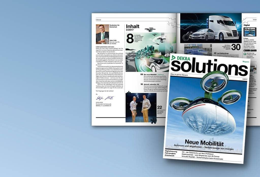 Blättern Sie hier im aktuellen DEKRA solutions Magazin