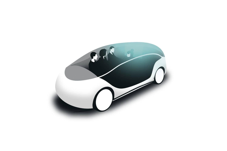 Auf dem Weg zum autonomen Fahrzeug. Grafik: Mario Wagner/2Agenten