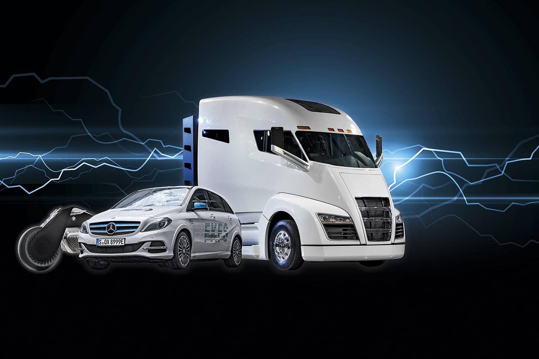 Mit Nikola One betritt ein E-Lkw die Nutzfahrzeugbühne und bietet spektakuläre Leistungen. Foto: Getty Images, BMW, Nikola, Thomas Kueppers