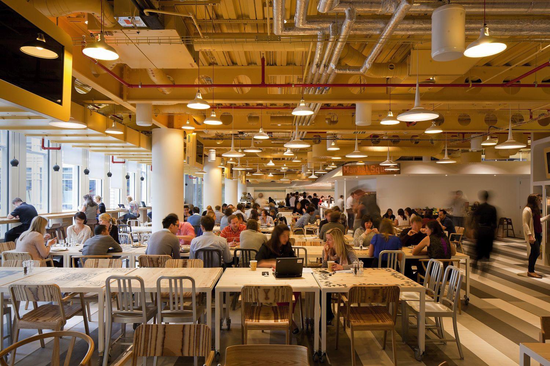 Gemeinsame Mittagspausen schaffen Raum für sozialen Austausch. Foto: PENSON/Rex/Shutterstock