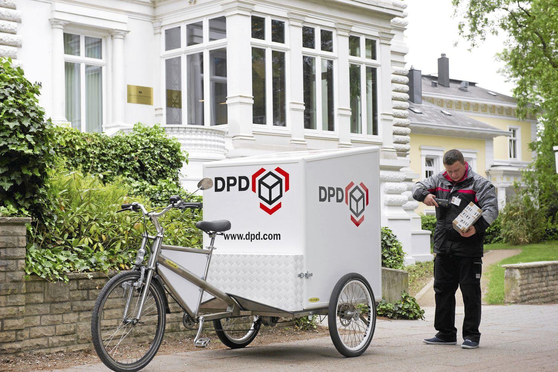 Die Zustellung von Paketen mit Lastenfahrrädern ist eine umweltfreundliche Lösung. Foto: DPD