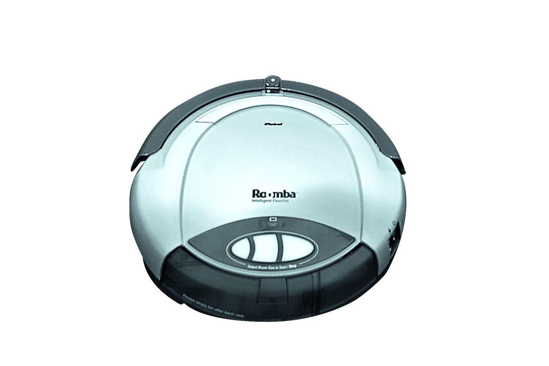 2002: iRobot stellt den ersten autonomen Staubsaugerroboter Roomba vor. Foto: Douglas McFadd/Getty Images