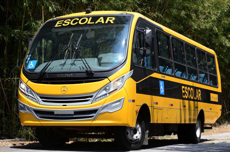 1.600 Mercedes-Benz Busse für den Schulweg in Brasilien. Foto: Daimler