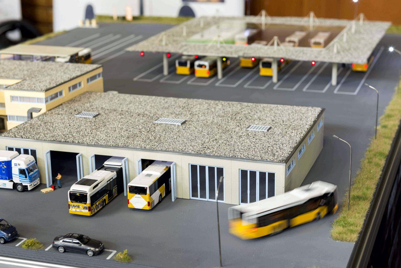Eine Studie des KIT zeigt autonomes Fahren auf dem Busbetriebshof. Foto: Tkotz/KIT