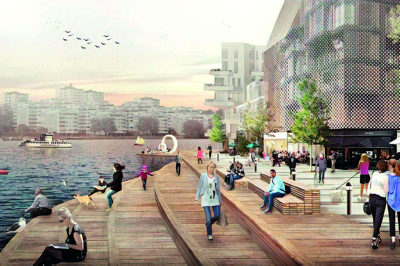 City Remake: Der Architekt Jan Gehl konzipierte das ehemalige Industriehafengelände von Stockholm so, dass ein optimales Verhältnis zwischen Wohn- und Verkehrsdichte herrscht. Foto: Gehl People