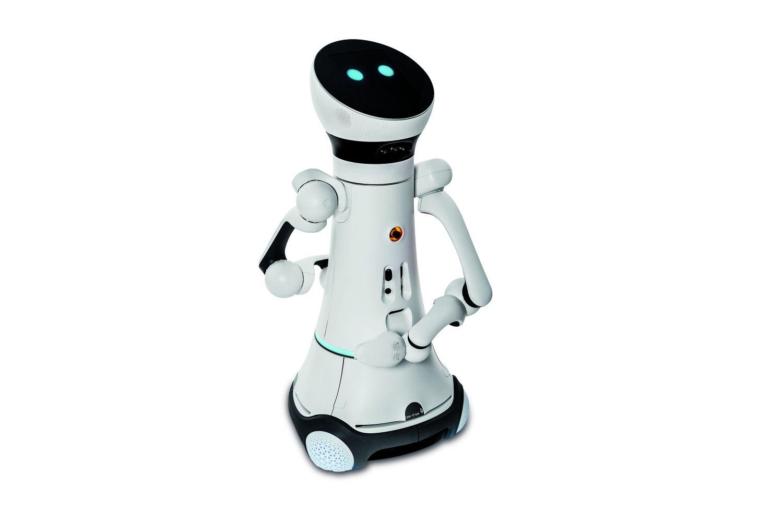 Patentierte Kugelgelenke ermöglichen eine 360-Grad-Drehung von Kopf und Torso und erhöhen damit den Arbeitsbereich des Roboters. Foto: Rainer Bez/Clemens Hess/Fraunhofer IPA