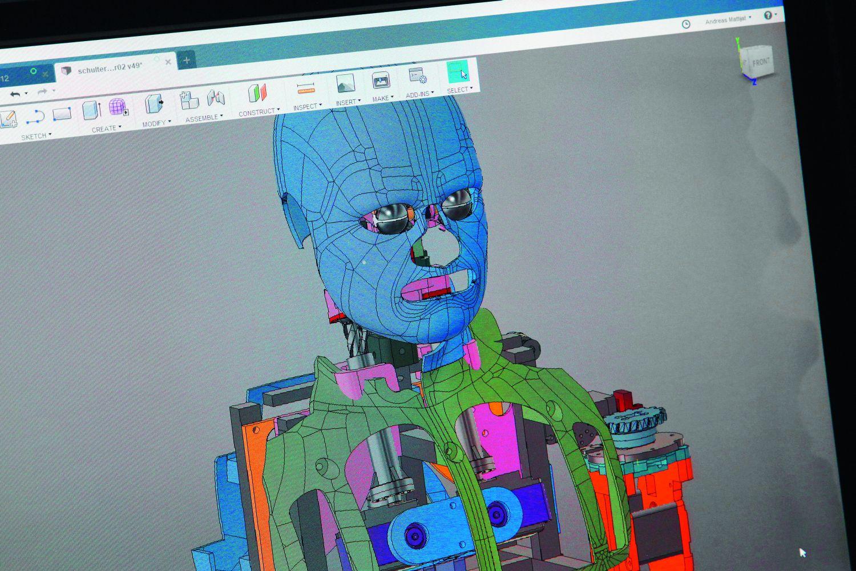 Der humanoide Roboter wird so programmiert, dass die Motoren das Bewegungsrepertoire seines menschlichen Vorbildes übernehmen. Foto: Dorothea Tuch