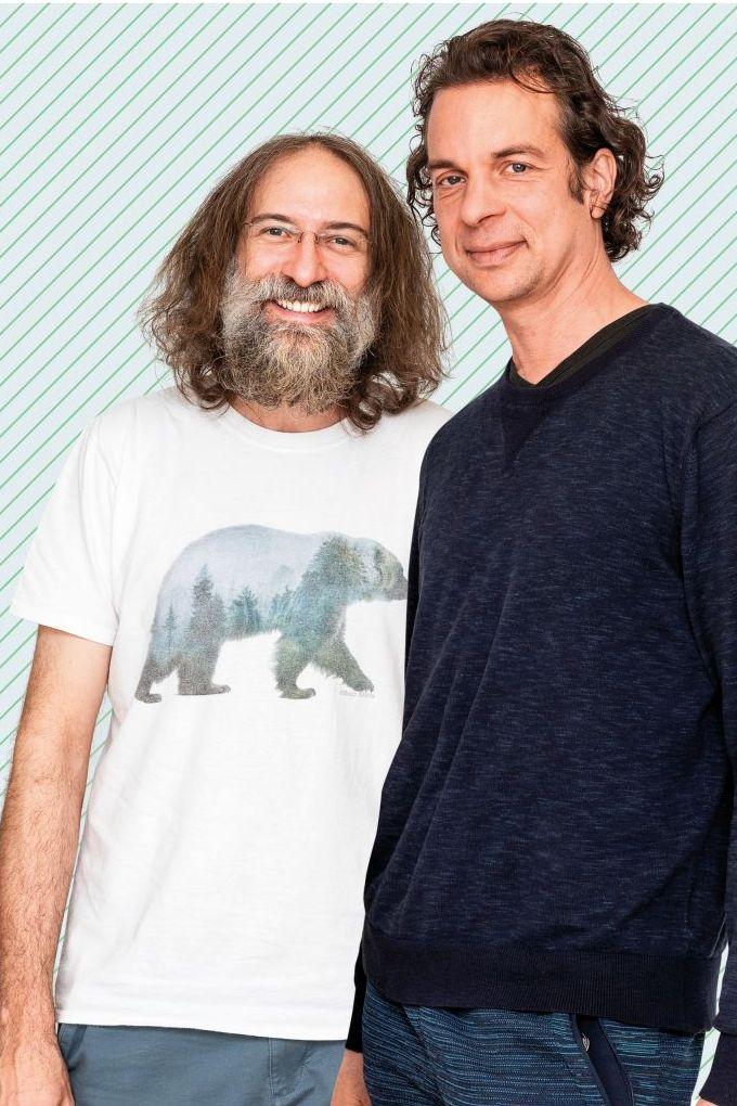 Zwei Männer, tausend Einfälle: Björn Graßl (links) und Matthias Gehrke sprühen nur so vor Ideen. Foto: