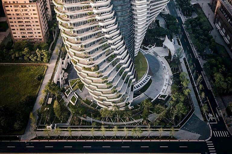 """Der """"Agora Garden"""" soll den ökologischen Fußabdruck verringern. Foto: Vincent Callebaut Architectures/ www.vincent.callebaut.org"""