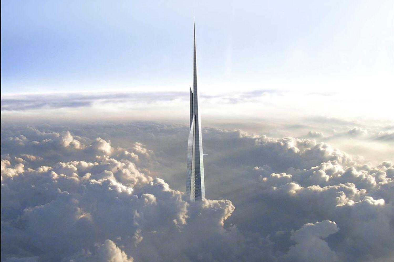 Der Turm an der Westküste Saudi-Arabiens ragt mit rund 1.000 Metern Höhe bis in die Wolken. Foto: Adrian Smith + Gordon Gill Architecture/Jeddah Economic Company
