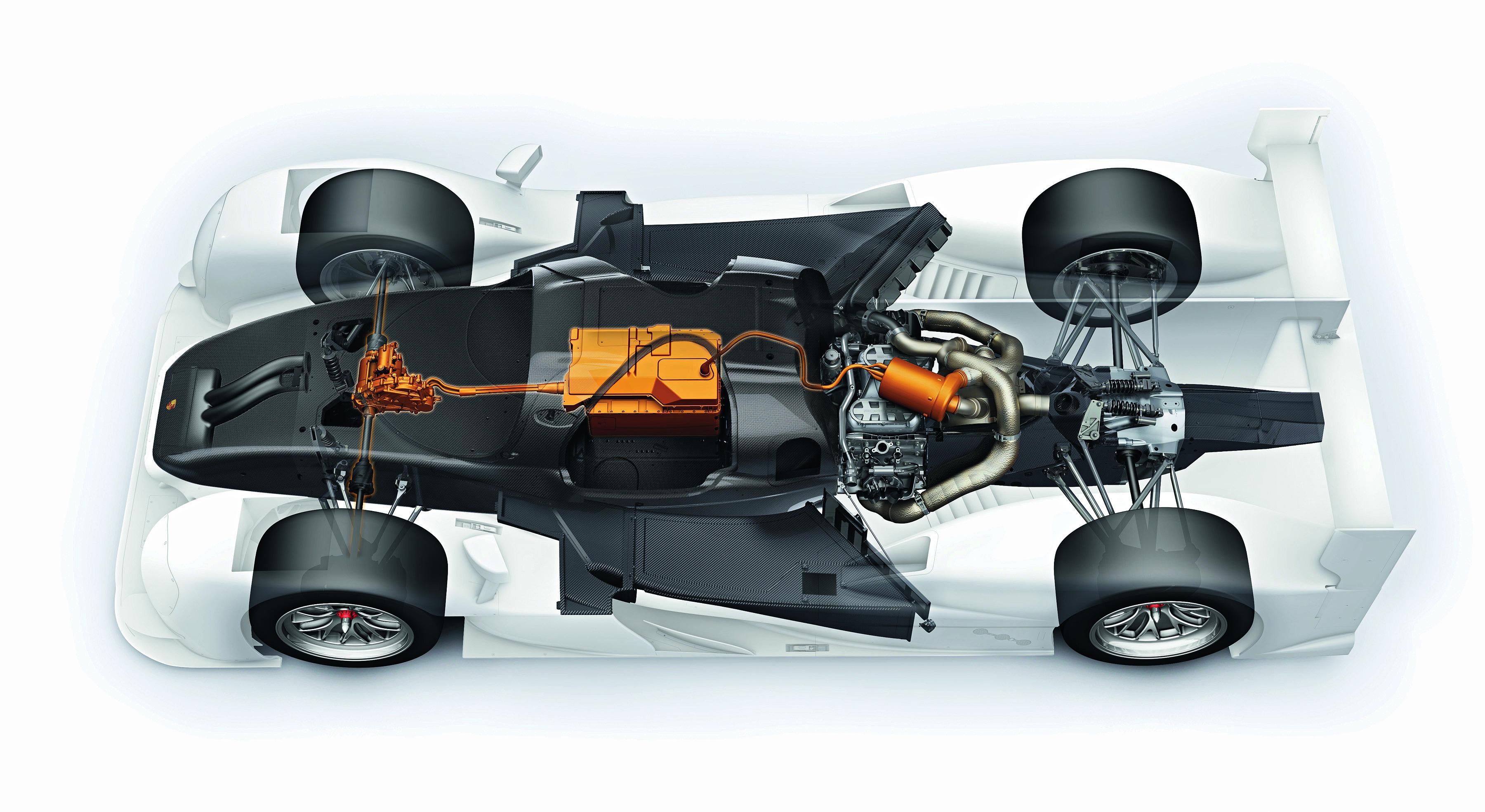 WEC: Petrol 2 liter V4 turbo hybrid (Porsche) Petrol 2.4 liter V6 turbo hybrid (Toyota) Diesel 4 liter V6 turbo hybrid (Audi) System power: 1,000 HP Top speed: 340 km/h, 0–100: 2.2 secs