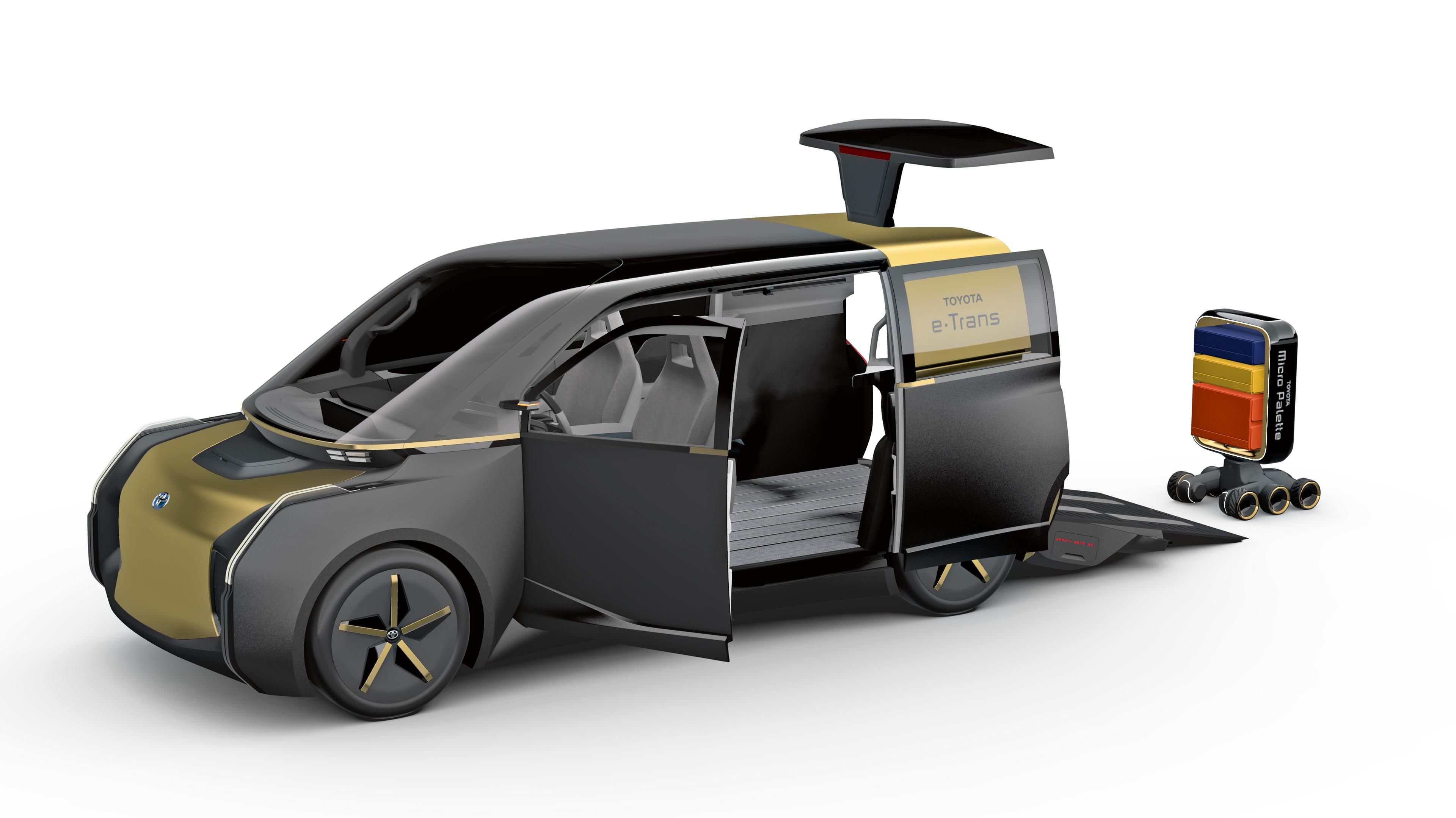 Variabel einsetzbar: Ob Bus, Supermarkt, Hotel oder Lieferwagen: Der E-Palette von Toyota ist multifunktional. Foto: Toyota