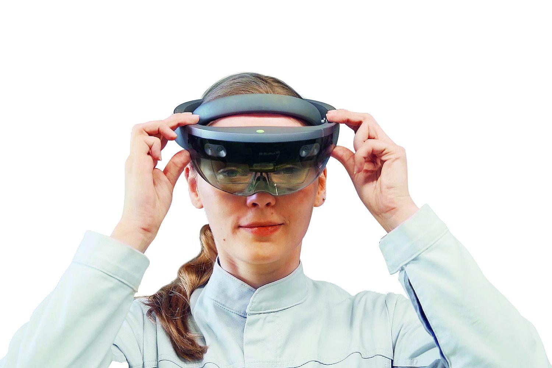 Unternehmen setzen in ihren Ausbildungsplänen zunehmend auf Virtual und Augmented Reality. Foto: HoloLens