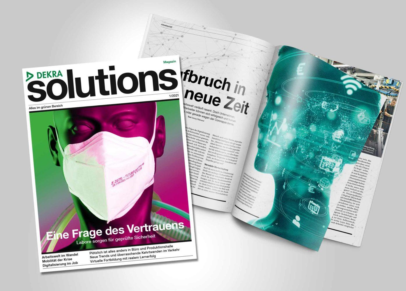 Blättern Sie hier im aktuellen DEKRA solutions Magazin 1/2021