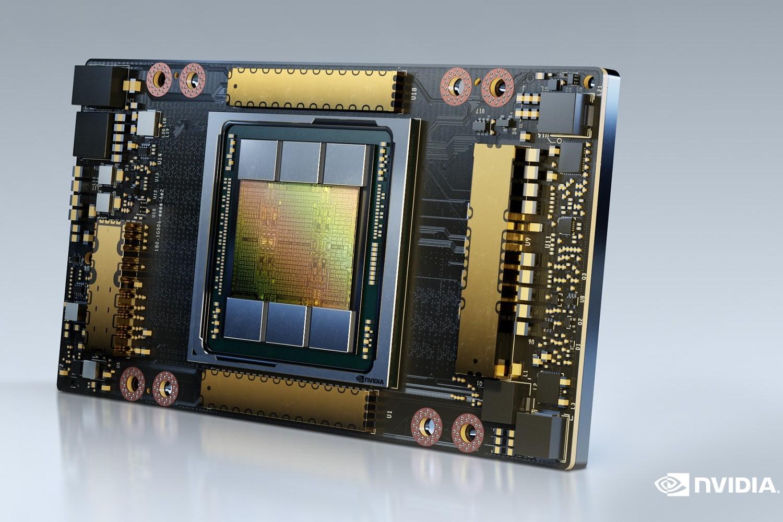 Im Inneren des Supercomputers Leonardo stecken unter anderem Grafikchips von Nvidia. Foto: Nvidia