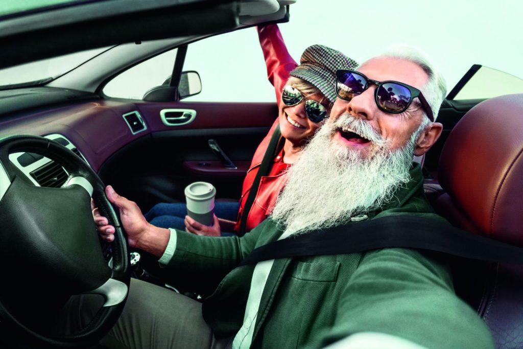 Senioren Fahren Cabrio